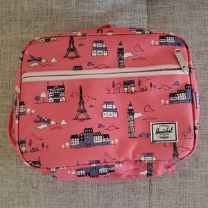 Herschel Paris Pink lunchbox